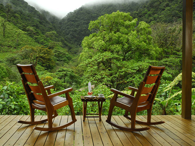 beautiful eco deck with two chairs