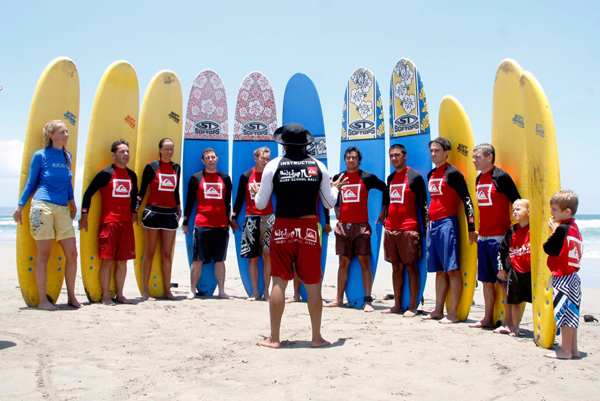 learning sessions of a surf camp