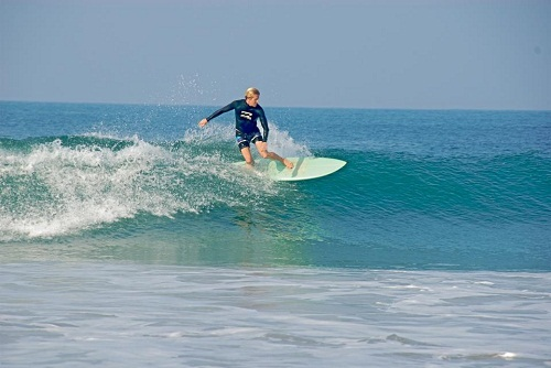 Ed is surfing