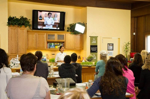 cooking class at living light